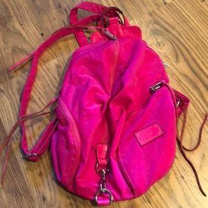 Rebecca Minkoff Bright Pink Nylon Julian backpack
